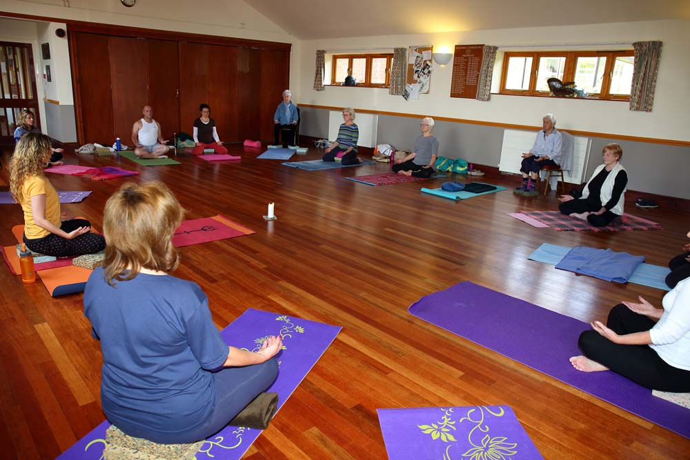 Yoga session at Burcot Village Hall