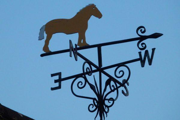 Weather vane on Burcot Village Hall