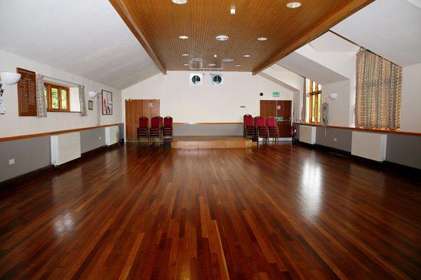 Interior view of Burcot Village Hall